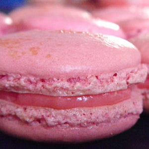 macarons à la fraise tagada