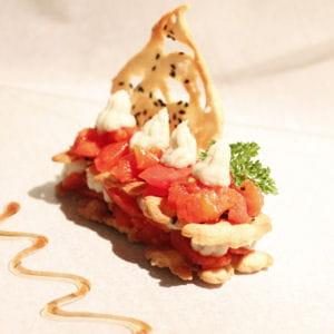 délice végétarien au roquefort