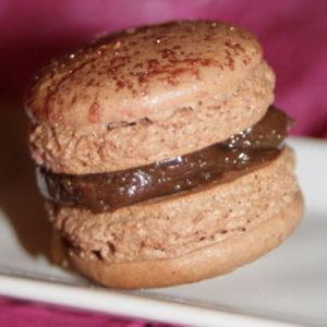 macarons chocolat et pistache