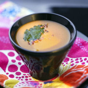 soupe épicée orange au cacao
