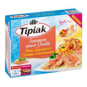saumon à l'oseille et céréales gourmandes de tipiak