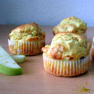 muffins à l'indienne : poulet, curry et pomme