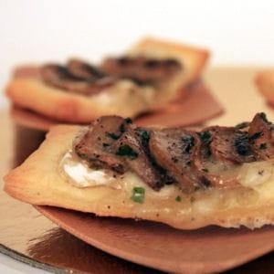 minis feuilletés camembert et champignon