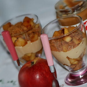 pommes caramélisées et spéculoos façon trifle