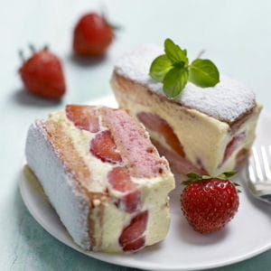 fraisier express aux biscuits roses