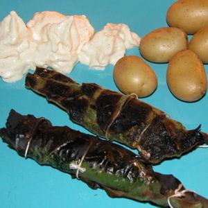 sardines en papillote de feuille de figuier et chantilly à la moutarde