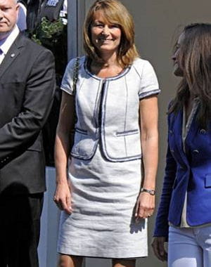 carole middleton  la sortie du goring htel 