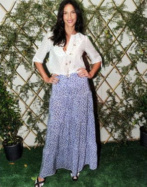 linda hardy à la garden party d'escada