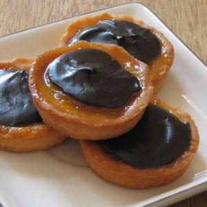 mini tartelettes abricot-chocolat