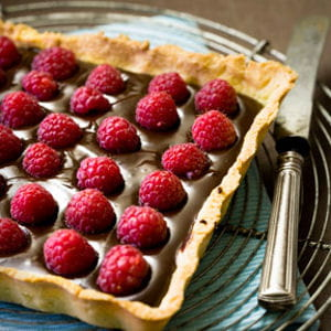 tarte chocolat-framboise