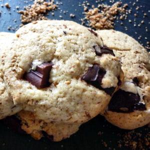 cookies au pralin et aux deux chocolats