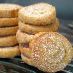 biscuits escargots au sucre caramélisé
