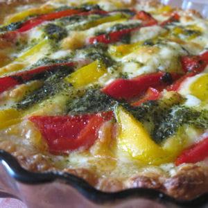 tarte aux poivrons et à la mozzarella