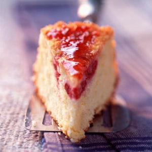 gâteau noix de coco-framboise