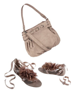 le sac d'accessorize et les sandales de promod