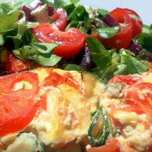 omelette aux légumes façon gratin