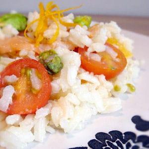 salade de riz au saumon et pistaches, vinaigrette