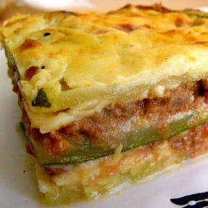 lasagnes de courgettes sans feuilles de lasagnes