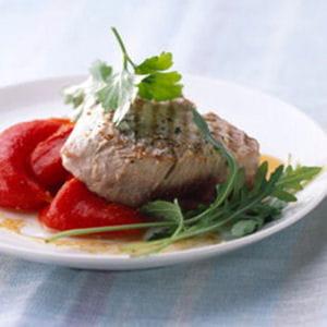 thon rouge grillé au vinaigre balsamique