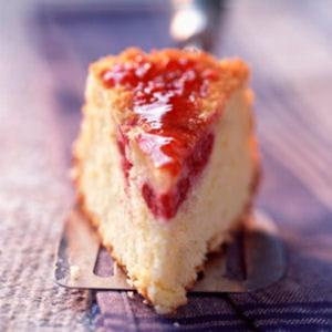 gâteau noix de coco framboises