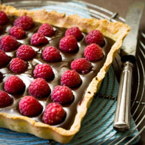 tarte chocolatet framboises