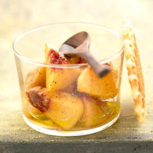 salade de pêche à l'huile d'olive