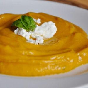 purée de carottes au basilic