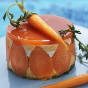 cheesecake fraicheur en duo carottes et herbes