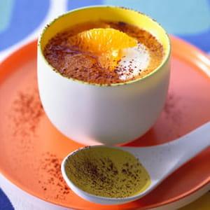 velouté de carotte, jus d'orange et cacao