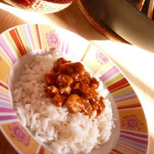wok de poulet au curry madras