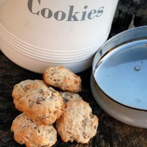 cookies banane, pralinoise, flocons d'avoine