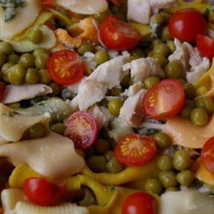 salade de p tes au poulet petits pois et tomates 40 recettes pour vider ses placards. Black Bedroom Furniture Sets. Home Design Ideas