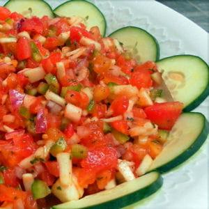ezme, salade de tomates turque