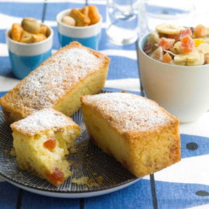 petits cakes fruits secs et citron 