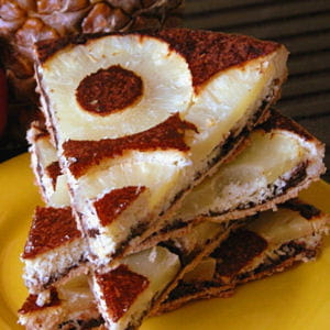 tatin d'ananas coco et chocolat