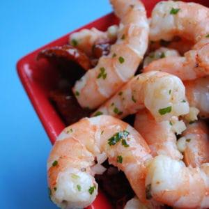 crevettes à l'ail et coriandre
