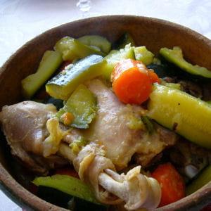 tajine poulet aux courgettes et carottes