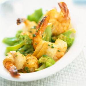 roulades de soles aux crevettes et brocolis