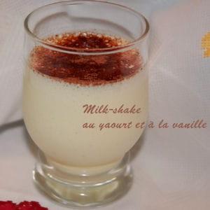 milk-shake au yaourt et à la vanille