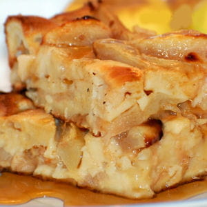 clafoutis pomme-poire au sirop d'érable