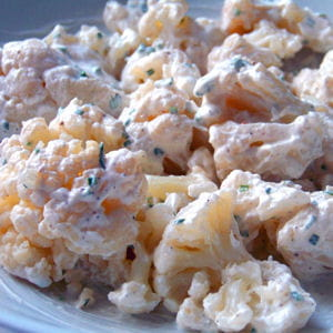 chou-fleur sauce yaourt et ciboulette