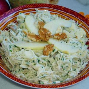 salade de céleri-rave aux pommes et noix
