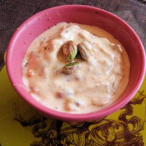 kulfi, glace à la pistache et au safran
