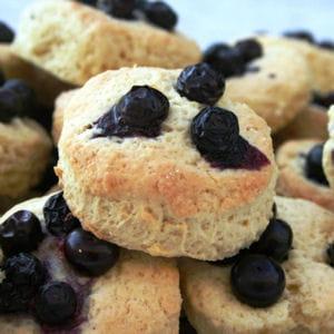 muffins anglais aux bleuets