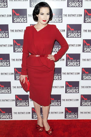 dita von teese à l'avant-première du film 'god save my shoes' le 7 septembre