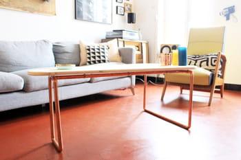 Fabriquer une table basse en bois et cuivre journal des - Fabriquer une table basse en bois ...