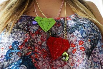 DIY : un collier diamant en feutrine