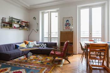 Un intérieur mi-vintage, mi-indus' et 100% créatif