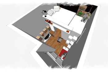 Défi petit espace : aménager un mini studio avec mezzanine