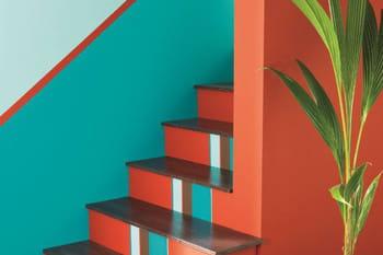 Peinture bleue et verte : de l'exotisme sur nos murs